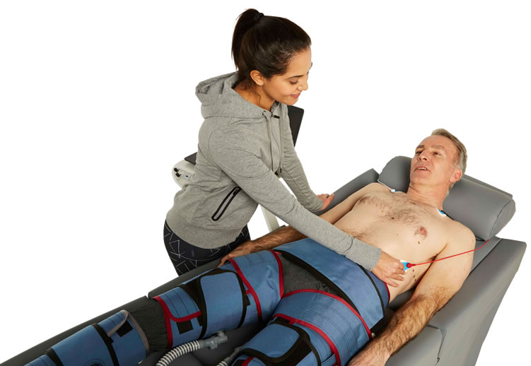Woman getting ECP Therapy